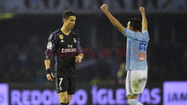 Ronaldo (stânga) nu are motive de bucurie după dubla cu Celta Vigo