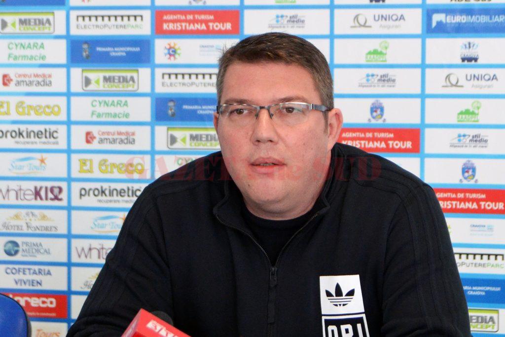 Marius Toma revine la SCM-U Craiova, de data aceasta ca director tehnic (foto: Claudiu Tudor)