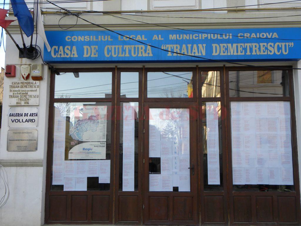 """În ultimii trei ani, au fost concursuri cu scandal la """"Traian Demetrescu"""" (Foto: Claudiu Tudor)"""