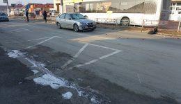 Locul unde s-a produs accidentul, în atenţia autorităţilor (Foto: Eugen Măruţă)