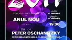 Afiş al Concertului de Anul Nou