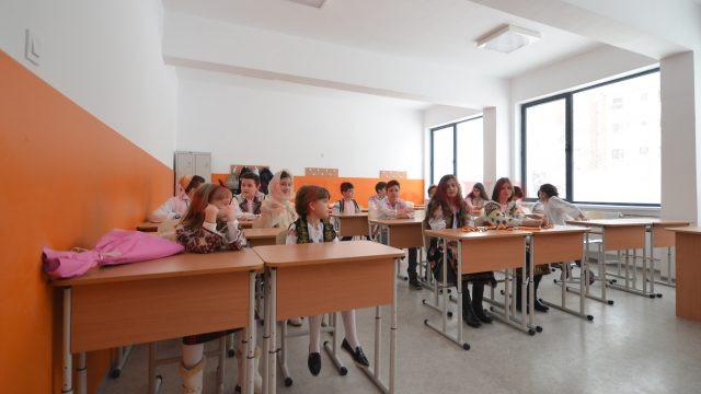 """Elevii Școlii """"Sfântul Dumitru"""", în clase de Bobotează (Foto: Bogdan Grosu)"""