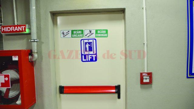Liftul parcării subterane a primit la sfârșitul lunii decembrie avizul de funcționare (Foto: GdS)
