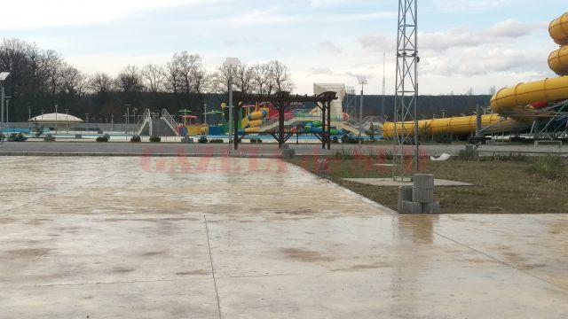 Complexul de agrement acvatic din Parcul Tineretului este executat în proporție de 90% (Foto: Marian Apipie)