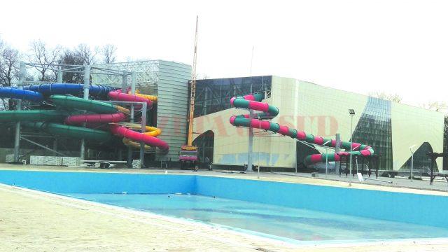 """Lucrările la Water Park au """"înghețat"""" în așteptarea unei noi autorizații de construire (Foto: Marian Apipie)"""