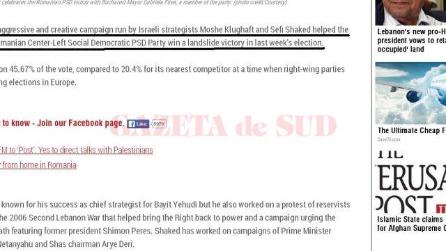 Jerusalem Post arată cine a fost în spatele victoriei PSD