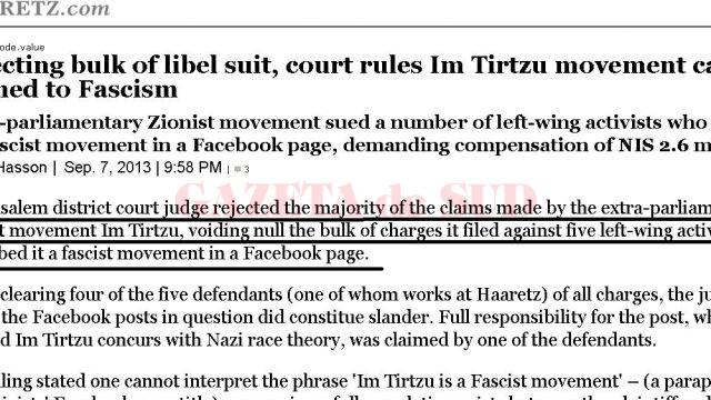 """Organizația extremistă Im Tirtzu, catalogată ca """"fascistă"""""""