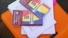Protestatarii au adus Constituția României