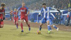 Andrei Ivan (la minge) a făcut o partidă bună contra Stelei, dar sub așteptările selecționerului României (Foto: Alexandru Vîrtosu)