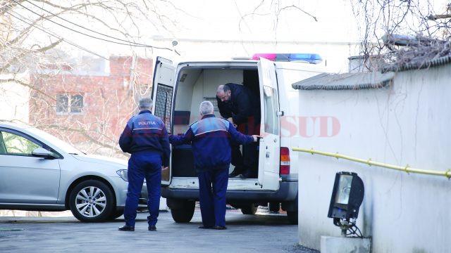 Fănel Trandafir a fost dus vineri la Parchetul de pe lângă Tribunalul Dolj