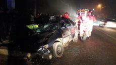 Cinci persoane au fost rănite ușor în urma accidentului produs sâmbătă seară, pe DJ 561