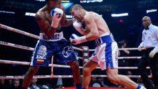 Lucian Bute (dreapta) a fost învins de Alvarez, prin KO, în repriza a cincea (foto: lapresse.ca)