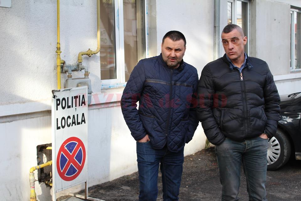 Doi dintre cetăţenii care au dat explicaţii la sediul Poliţiei Locale Târgu Jiu