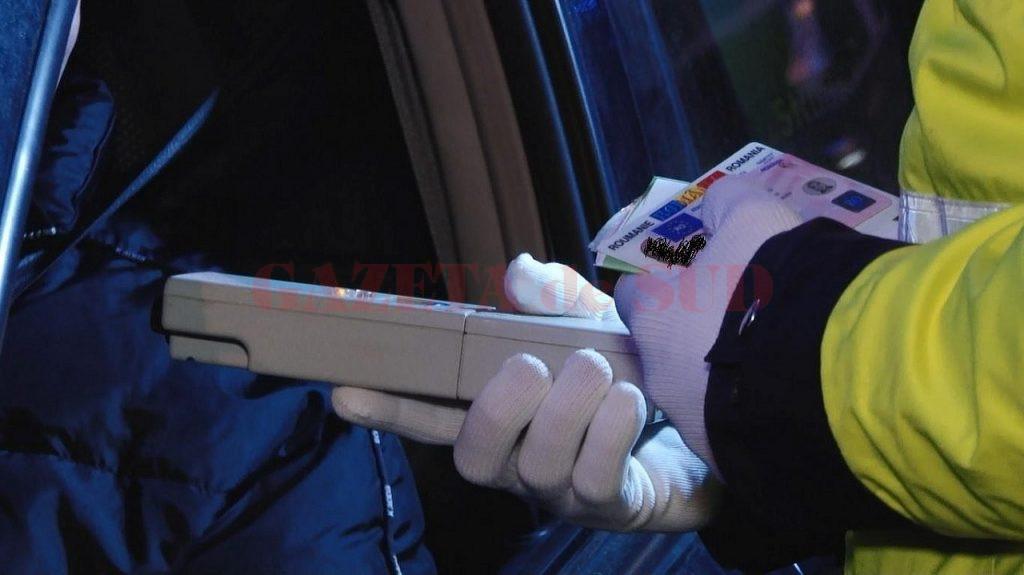 Un bărbat din Balș a fost prins băut și fără permis la volan