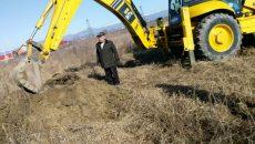 Ion Dodescu a blocat cu trupul excavatorul firmei de demolări