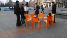 Protest prin lectură la Craiova (Foto: Ana-Maria Predilă)