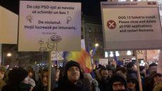 Protest Timisoara 10 februarie Foto: Facebook/ Mada Craciun