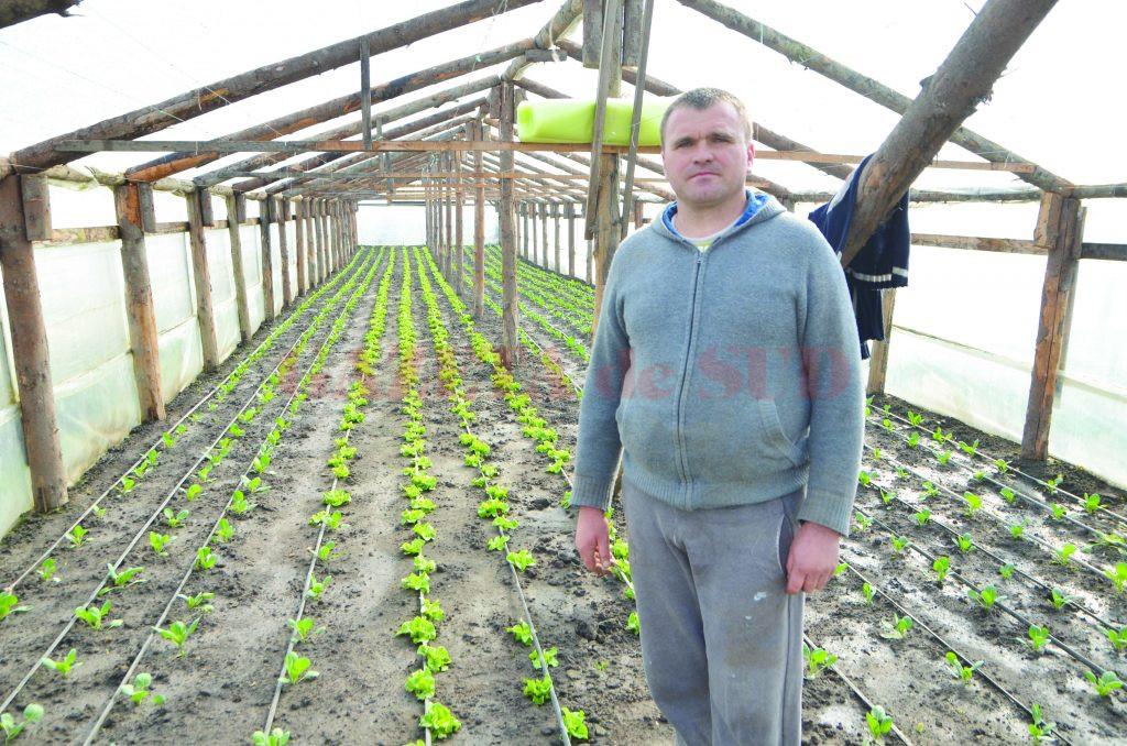 Gheorghe Buldur, unul dintre legumicultorii din Cioroiu Nou (FOTO: Claudiu Tudor)