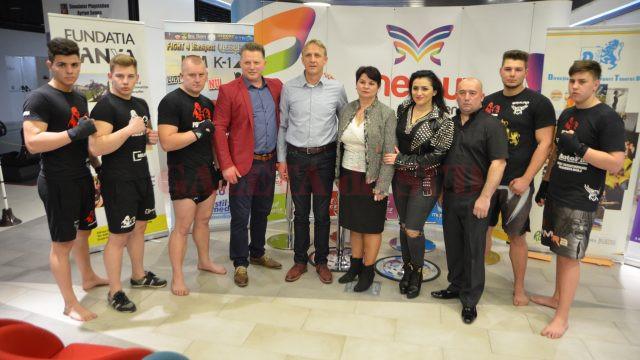 Organizatorii, sportivii și partenerii galei din 1 aprilie au participat astăzi la o conferință de presă (foto: Claudiu Tudor)
