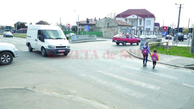 Accidente frecvente au loc şi în intersecţia străzilor Bucovăț şi Râului
