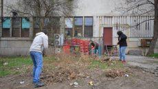 Spațiul verde din apropierea Direcției de Sport eliberat de gunoaie de către voluntari