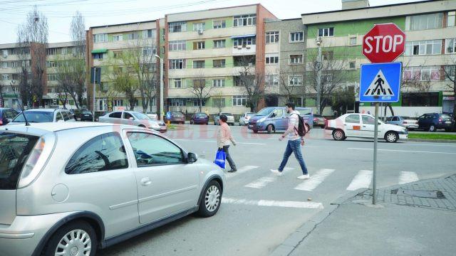 Multe accidente au loc şi la intersecţia străzii Dimitrie Gerota cu bulevardul 1 Mai