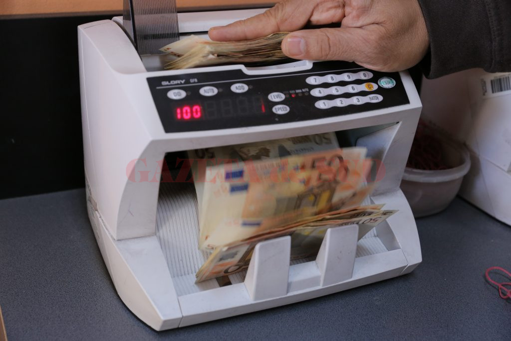 Euro la masina de numarat