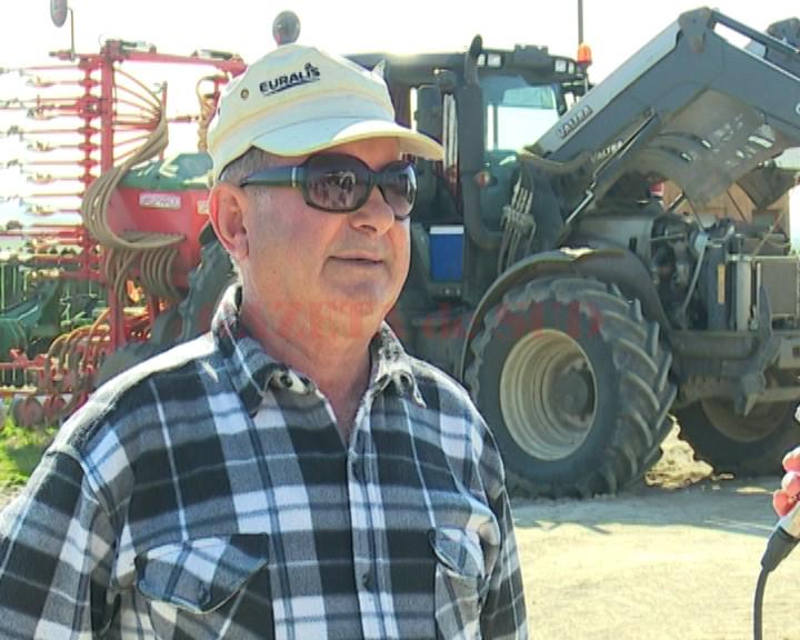 Ion Dincă, unul dintre marii fermieri din comuna doljeană Bistreţ (Foto: captură video)