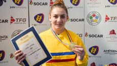 Floriana Văcaru a cucerit medalia de aur la Severin (foto: FR Judo)