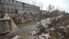 Deșeuri aruncate pe bulevardul Râului (Foto: Bogdan Grosu)