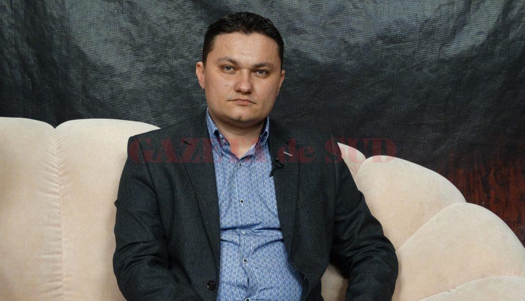 Dr. Cătălin Dudu este medic chirurg în cadrul Spitalului Județean de Urgență Slatina (Foto: Claudiu Tudor)