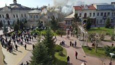 incendiu centru