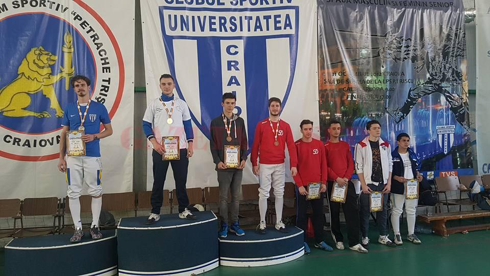La masculin individual trei craioveni au urcat pe podium