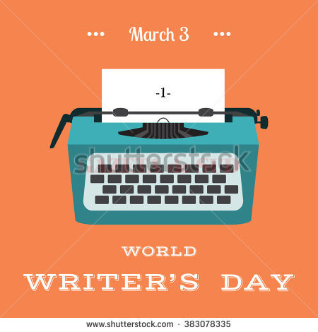 stock-vector-world-writer-day-background-in-flat-style-vector-illustration-tipewriter-with-a-paper-list-with-383078335