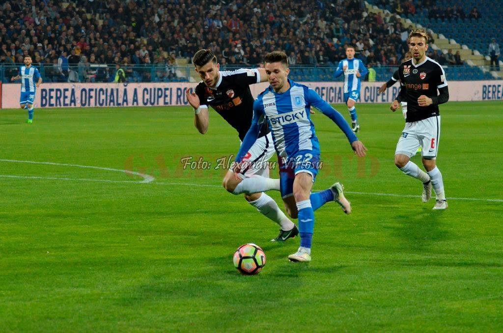 Alex Băluță (la minge) mizează pe un rezultat bun în meciul cu Dinamo (Foto: Alexandru Vîrtosu)