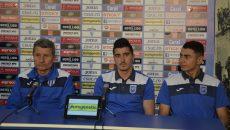 Gigi Mulţescu, Marius Briceag şi Vladimir Screciu îşi doresc rezultate pozitive în Cupă, cu Voluntari, şi în Liga I, cu CFR  (Foto: Alexandru Vîrtosu)