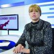 """Directoarea Casei Județene de Pensii Dolj, Daniela Licu, în emisiunea """"Economia Sudului"""" de la Alege TV (Foto: Bogdan Grosu)"""