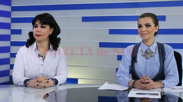 Antreprenorul craiovean dr. Simona Ianoși și consultantul Mihaela Mocanu la emisiunea Economia Sudului de la Alege TV (Foto: Lucian Anghel)