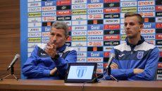Antrenorul Gigi Mulţescu şi jucătorul Nicuşor Bancu au vorbit despre confruntarea cu echipa campioană (Foto: Bogdan Grosu)