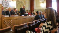 La Consiliul Județean Dolj s-au sărbătorit ieri 25 de ani de la reînființarea instituției (Foto: Bogdan Grosu)