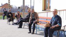 Bătrâni internați în Centrul Social