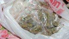 În urma perchezițiilor, oamenii legii au descoperit 500 de grame de resturi vegetale, dar și 25 de plicuri de substanţe cu efect psihoactiv