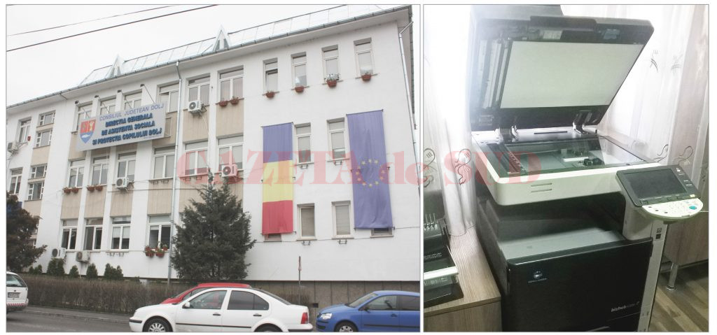 Multifuncţionalul de 16.542 de lei fără TVA cu consumabile incluse pe un an de zile de la Sediul DGASPC Dolj de pe strada Amaradia din Craiova