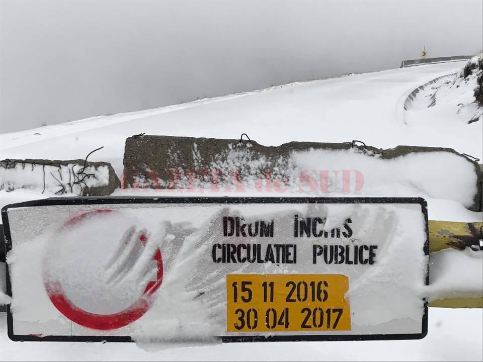 Transalpina este închisă până pe 30 aprilie