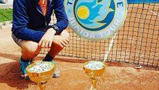 Alexandru Mihai Coman s-a impus şi la simplu şi la dublu la turneul din București