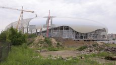 Aşa arăta stadionul ieri, 8 mai