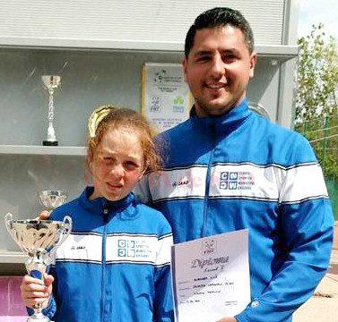 Andreea Lila alături de antrenorul Alex Banciu