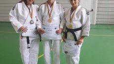 Cei trei medaliați craioveni: Andreea Ciurezu, Augustin Bălan și Amalia Doană