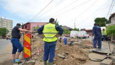 Termo a semnalizat lucrările după ce a fost amendată (Foto: Bogdan Grosu)