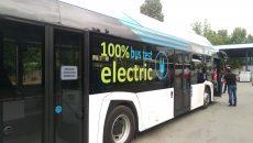 După ce a fost prezentat la autobaza RAT, autobuzul electric va circula timp de o săptămână pe mai multe trasee din Craiova